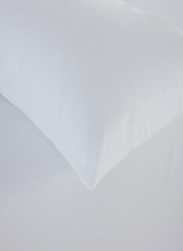 Penelope Laura Percale Easy Care 100x200+35 Tek Kişilik Fitted Çarsaf Seti Beyaz Beyaz